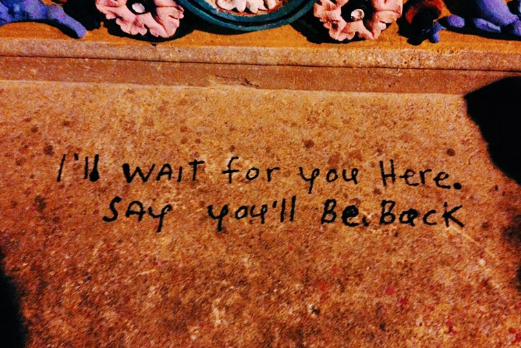 I'll wait for you here Say you'll be back Miami Art Basel 2013