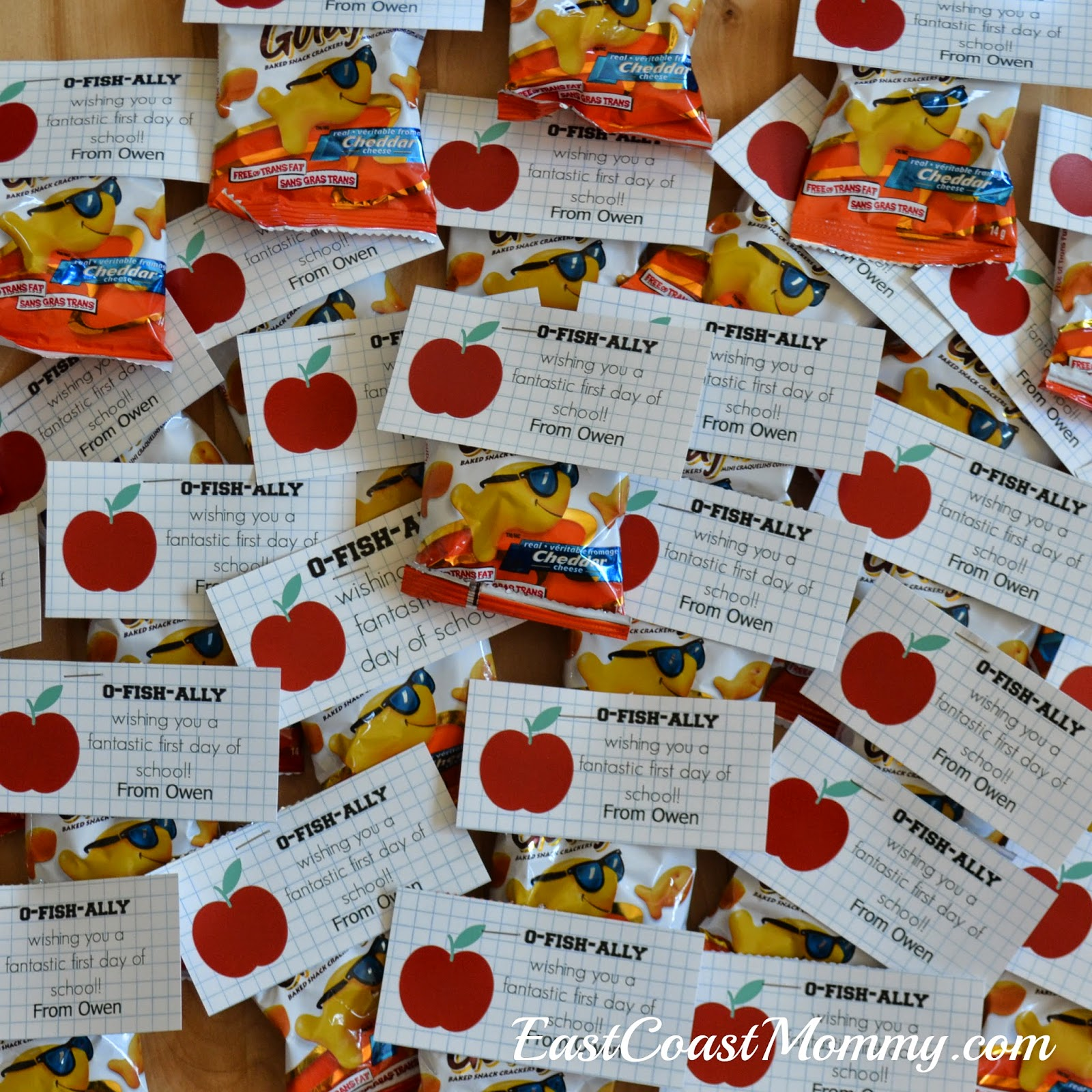 Classroom Treat Ideas ~ East coast mommy first day of school class treats free