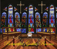 Beautiful Gothic Rooms digital fantasy backgrounds