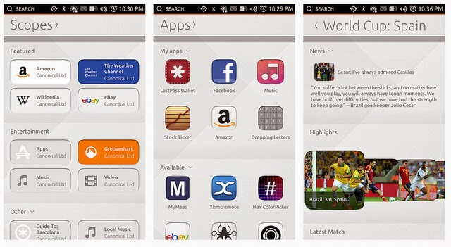 Nuevos Scopes para Ubuntu 14.10
