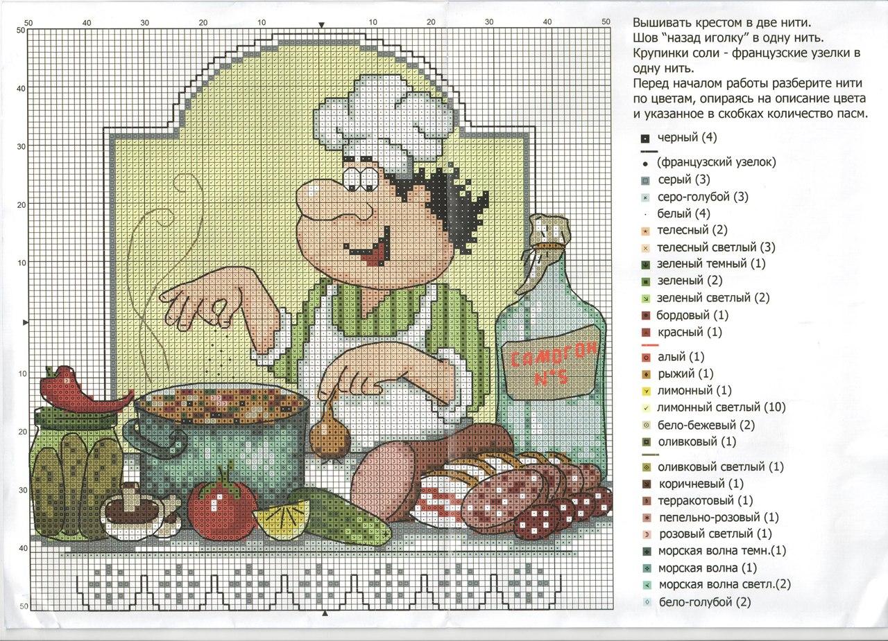 Веселый повар вышивка схема 66