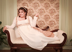 White and Gold Regency Gown