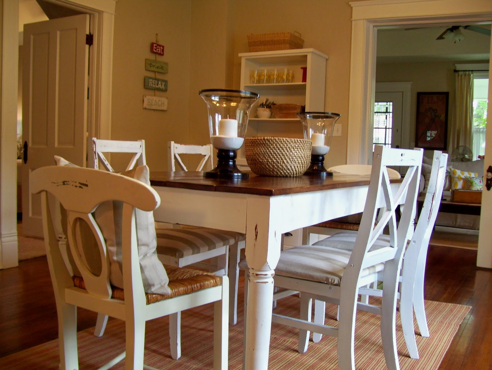 Vintage home love a dining room redo with special meaning for Dining room table top ideas