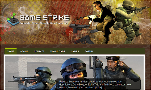 Video Game Theme Blogger Template