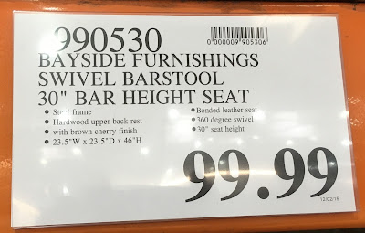 Deal for the Bayside Furnishings Swivel Bar Stool at Costco