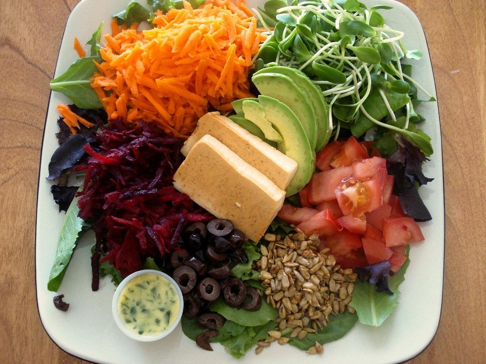Power Salad with Lemon Oregano Vinaigrette