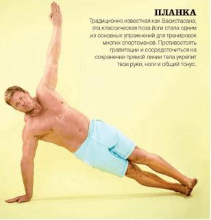 Поза йоги - ПЛАНКА