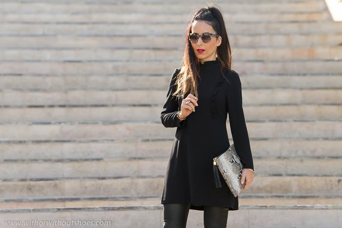 Resultado de imagen para vestido negro pantalon