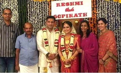 actress reshmi soman married gopinath wedding photos