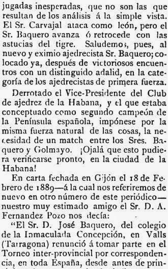 Recorte de El Pablo Morphy sobre el match de ajedrez Baquero - Martínez de Carvajal (3)