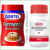Diferenças entre fermento em pó químico e bicarbonato de sódio.