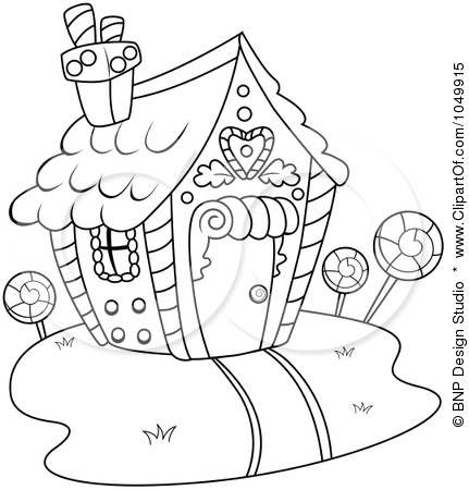 Candy house coloring pages for Candy house coloring pages