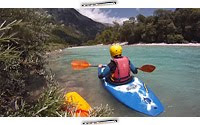 Whitewater kayaking, river Soca, Slovenia