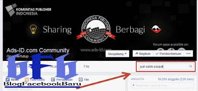 cara mencari kata kunci di grup facebook