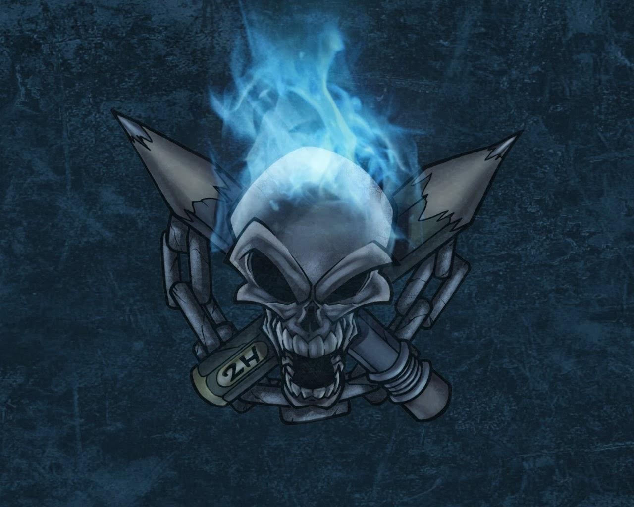 Fantastic   Wallpaper Home Screen Skull - blue+skull+photos++5  You Should Have_742989.jpg