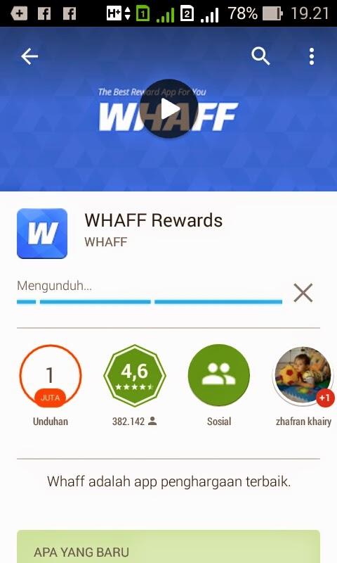 Langkah-langkah Lengkap Mendaftarkan Aplikasi Whaff Reward Yang Benar