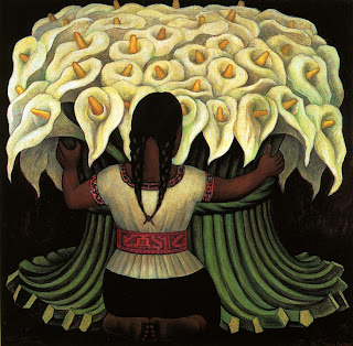Diego Rivera painting of flowers
