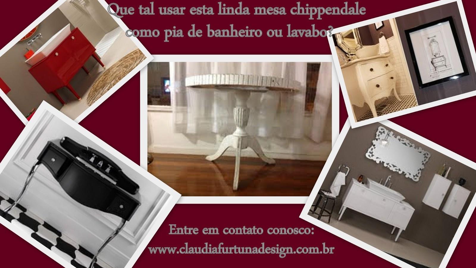 #AF281C MESA CHIPPENDALE PARA PIA DE BANHEIRO OU LAVABO 1600x900 px plantas para banheiro feng shui