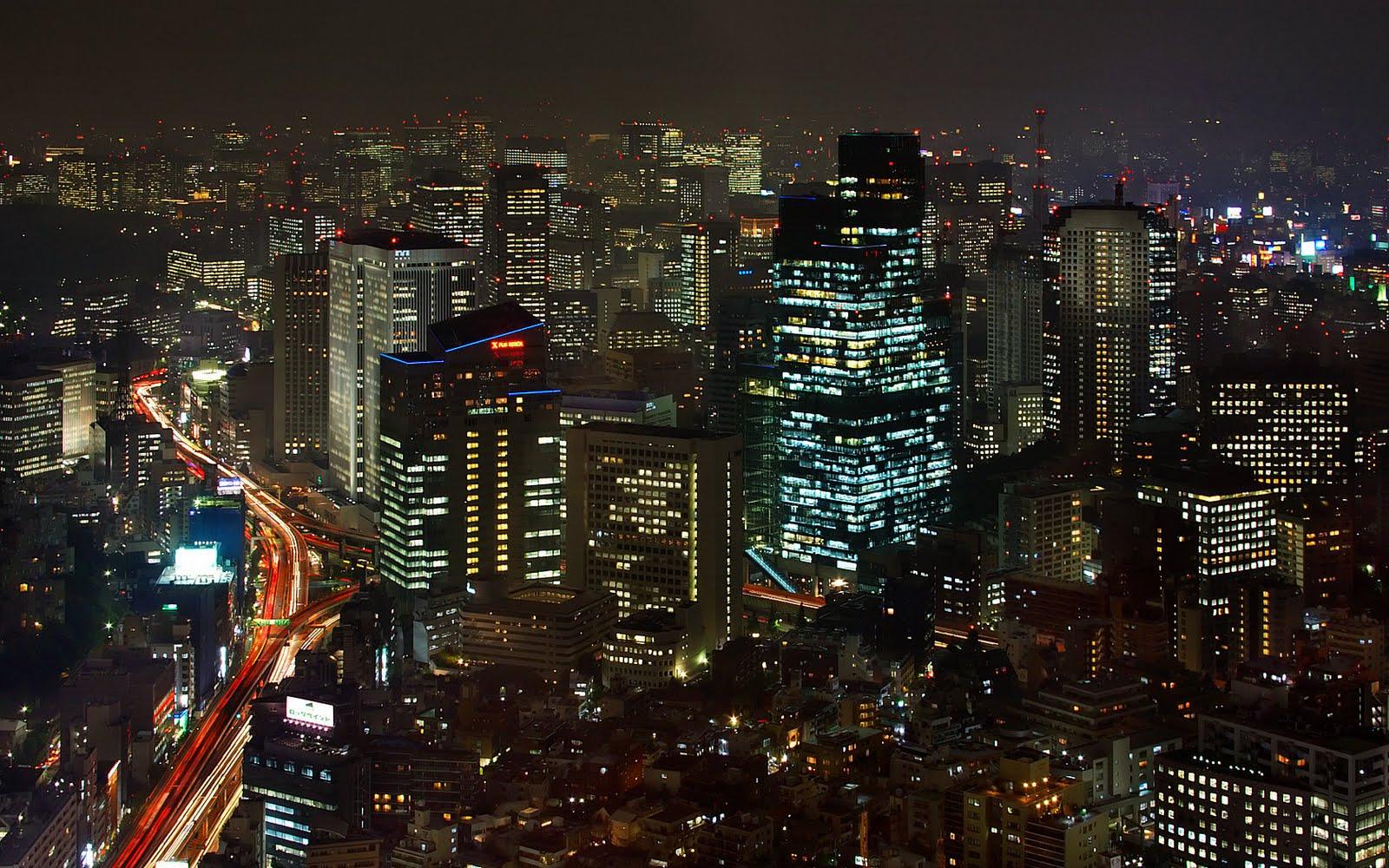 tokyo at night wallpaper hd desktop wallpaper
