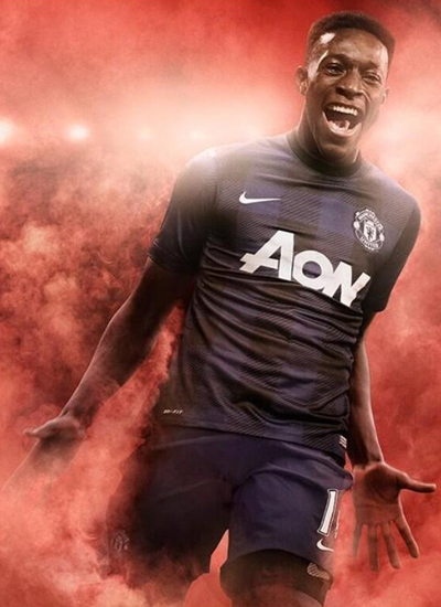 Manchester United Away Kit Jersey 2013-3014