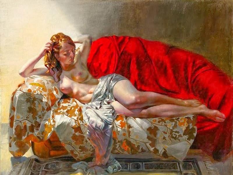 D.W.C. Red Nude - Painter Leszek Piotrowski