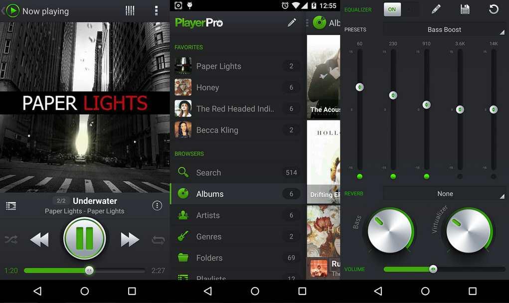 Aplikasi pemutar musik android keren playerpro