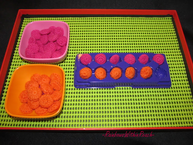 photo of: Montessori tray for fine motor development