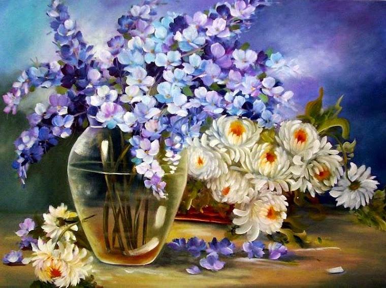 vaso e flores