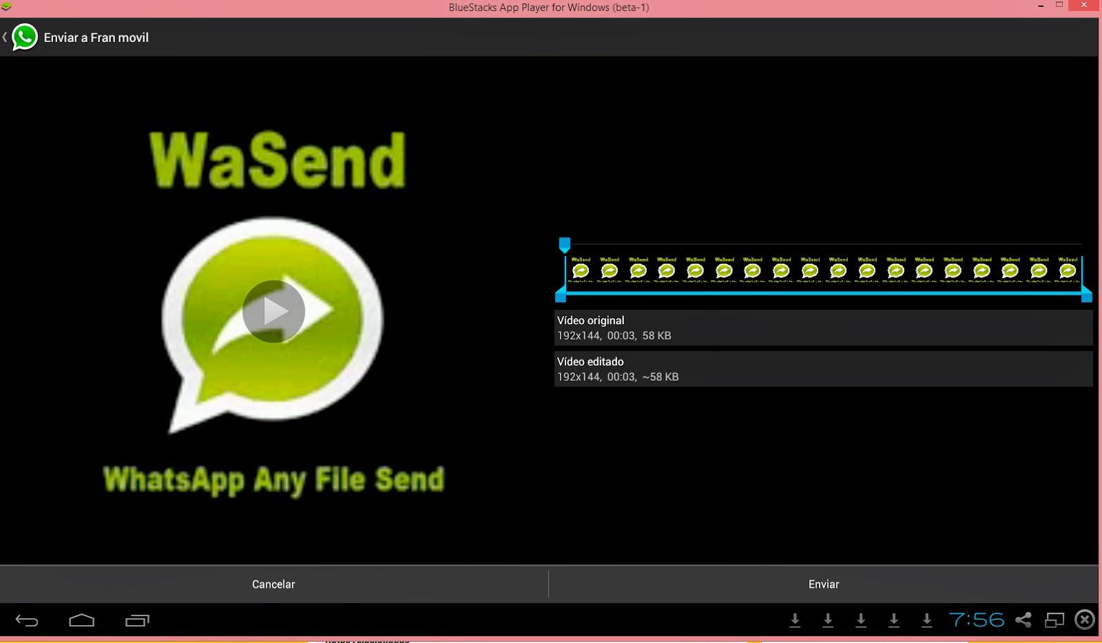 enviar archivos wasend