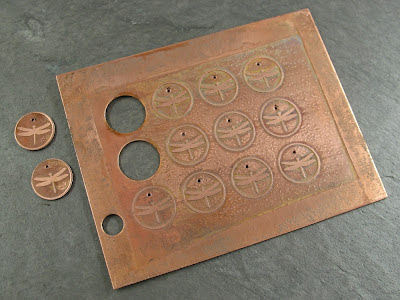 Grid of Etched Tags (drilled)
