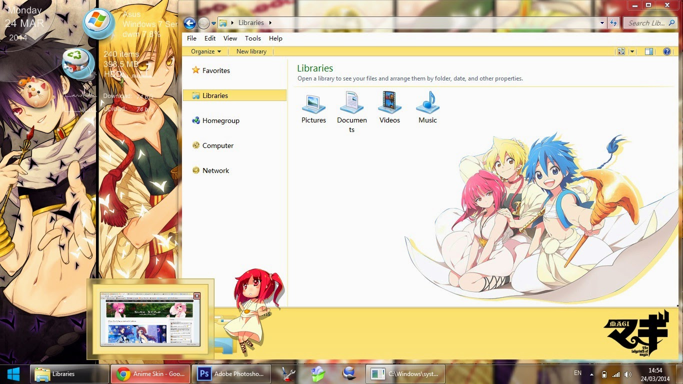 [Theme Win 7] Magi : The Labyrinth of Magic By Bashkara