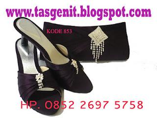 tas pesta dan sandal pesta, jual clutch bag