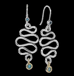 Earrings in Sterling Silver and Gemstone
