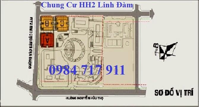 vị trí dự án hh2 linh đàm
