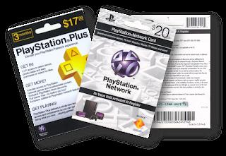 Cartão PSN 20 e PSN PLUS