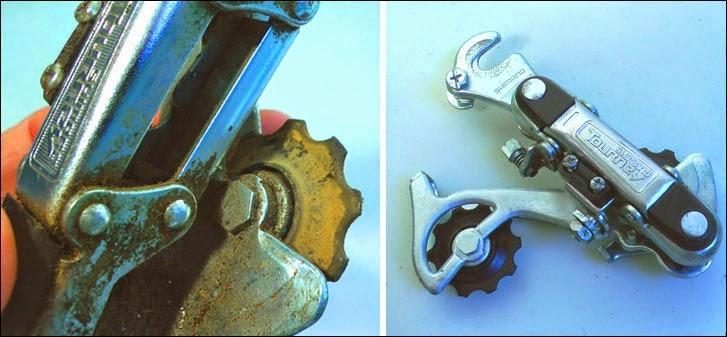 restoring a bike derailleur