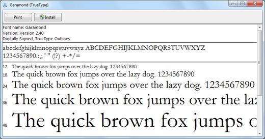 come installare i font
