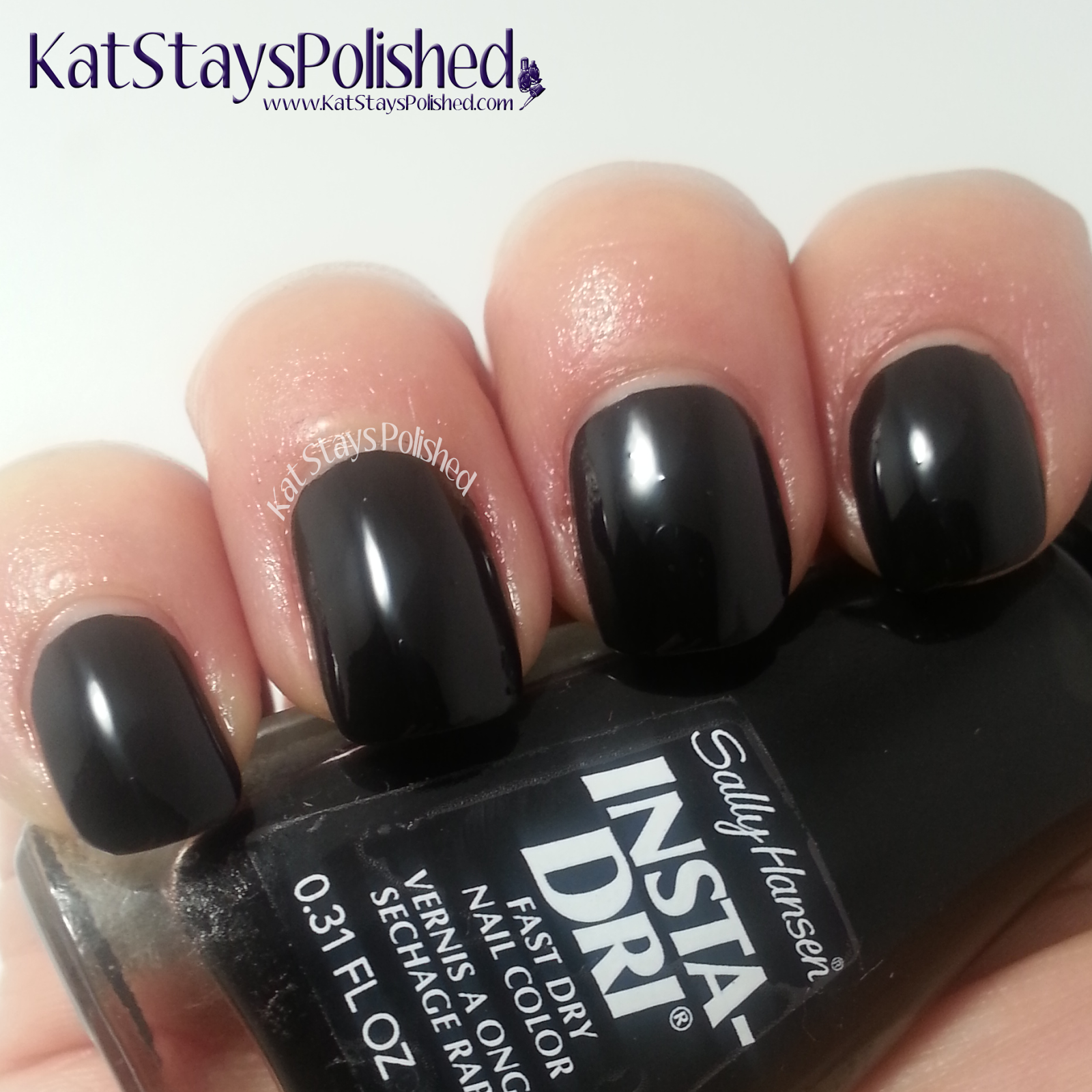 Sally Hansen Halloween 2014 - Insta-Dri Night Fright | Kat Stays Polished