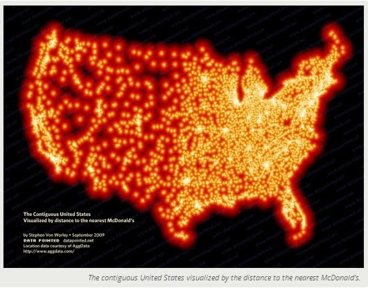 above showing mcdonalds restaurants in the us