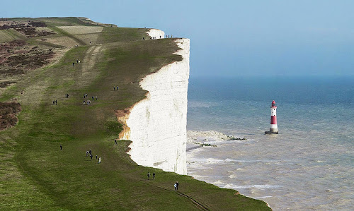 Beachy Head and Lighthouse East Sussex England