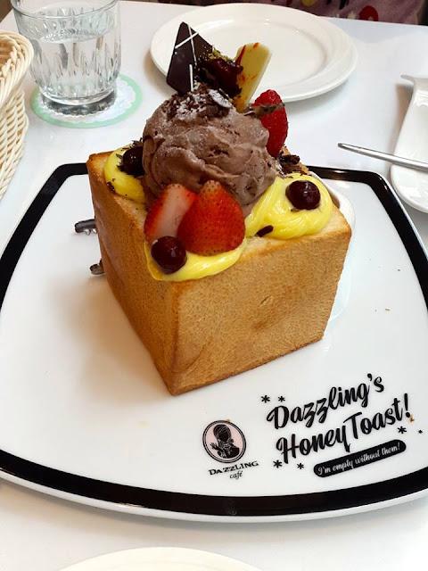 Black Chocolate Honey Toast at Dazzling Cafe Singapore
