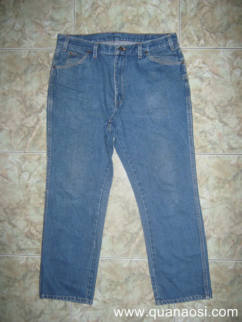 Quần jean xanh cổ điển size 34 250k