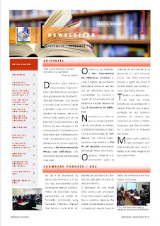 Newsletter da Biblioteca Escolar