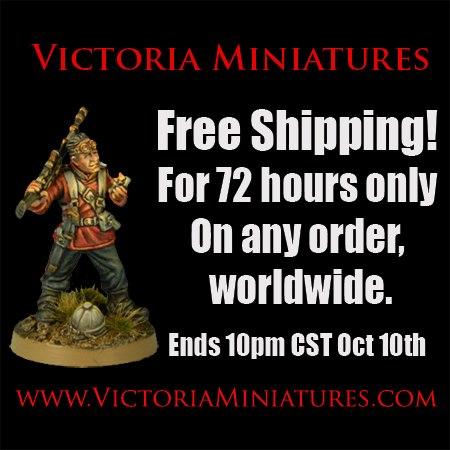 Oferta de Victoria Miniatures: Gastos de envío gratis durante 72 horas