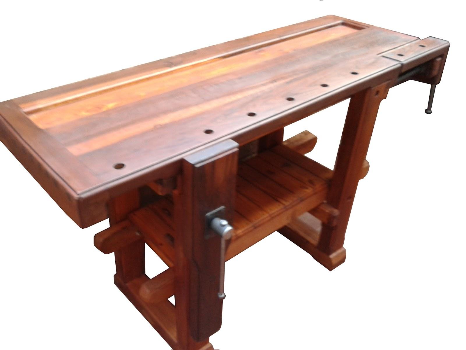 Banco de carpintero de pinotea unico carpinterof for Mesa de carpintero