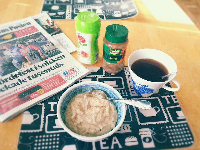 porridge, cardamum, tea, breakfast, home sweet home, månses design