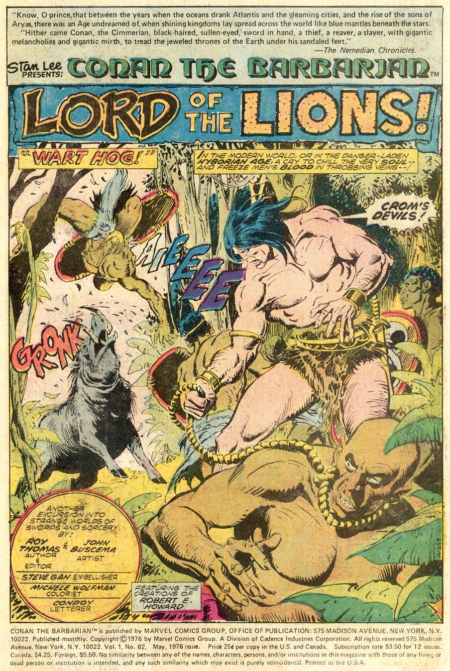Conan the Barbarian (1970) Issue #62 #74 - English 2