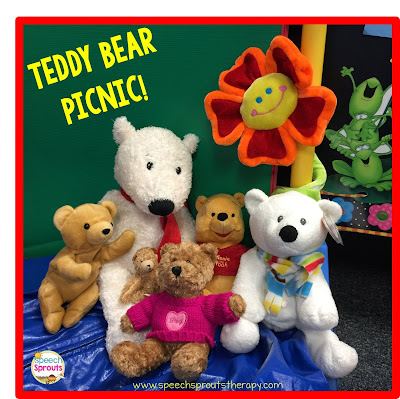 Teddy Bear Picnic www.speechsproutstherapy.com