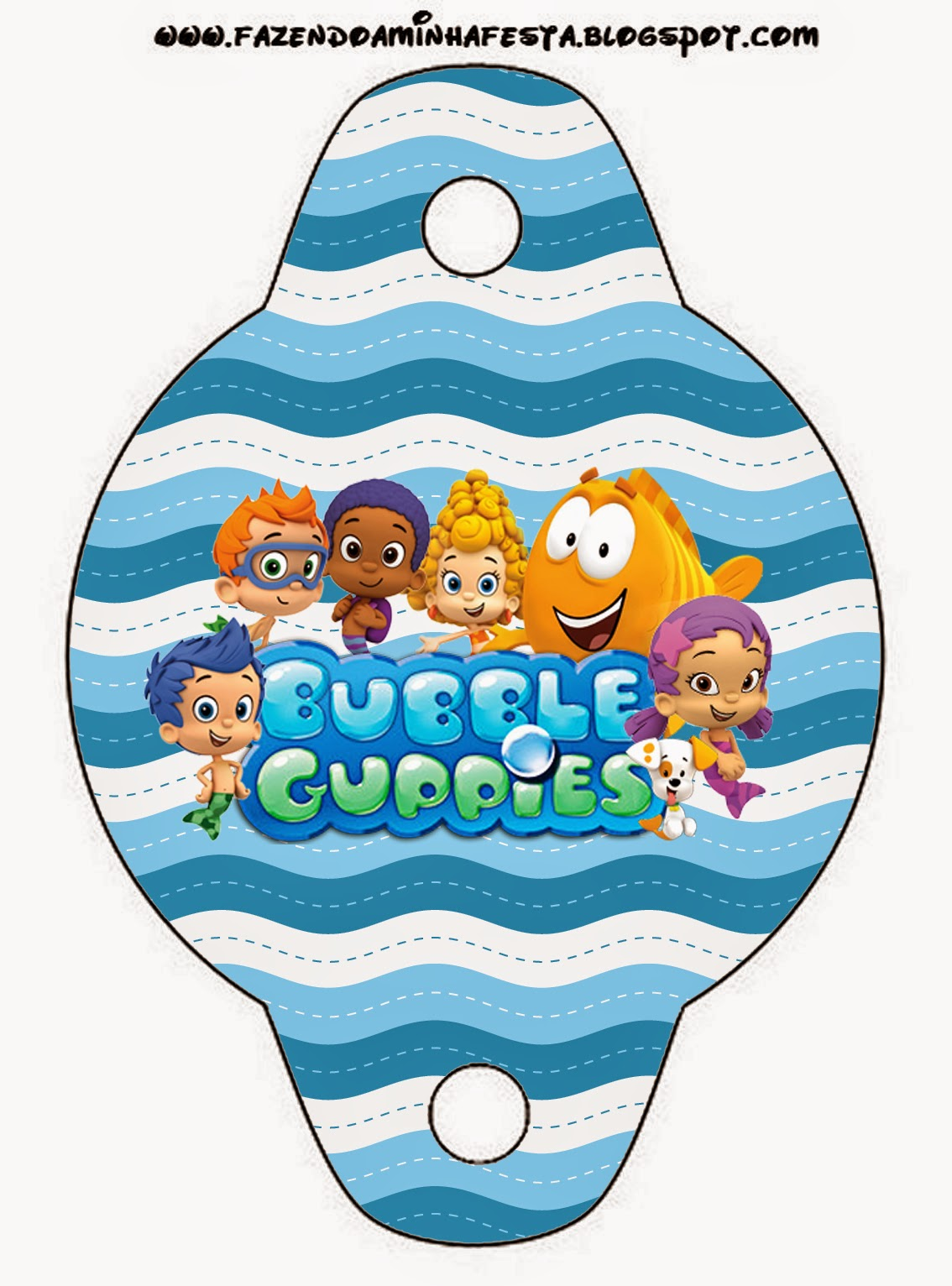 Bubble guppies free party printables is it for parties is it free is it cute has quality - Bubble guppies birthday banner template ...