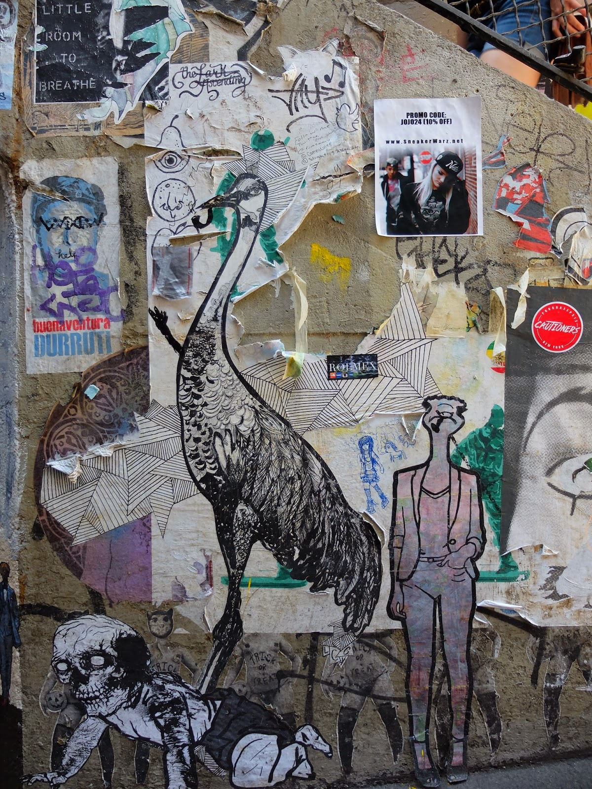 Post Graffiti Travelmarx Post Alley  Pike Place Hillclimb  Paste Ups And Graffiti